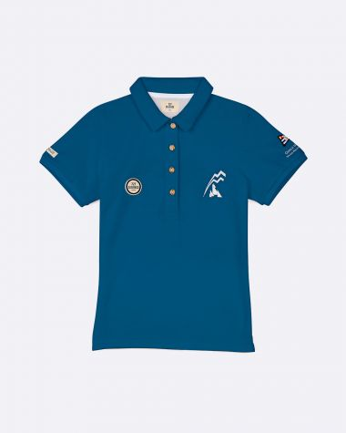 Women's short sleeved polo Bol d'Or Mirabaud 2021 Blue