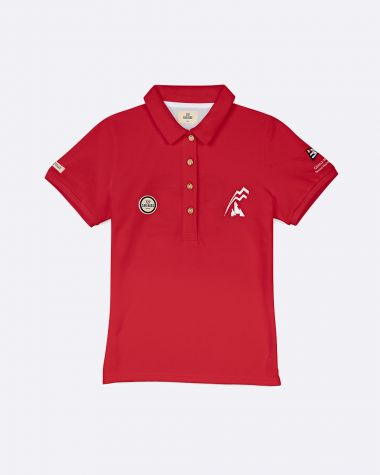 Women's short sleeved polo Bol d'Or Mirabaud 2021 Red