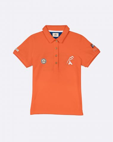 Polo manches courtes Femme Bol d'Or Mirabaud 2021 Orange