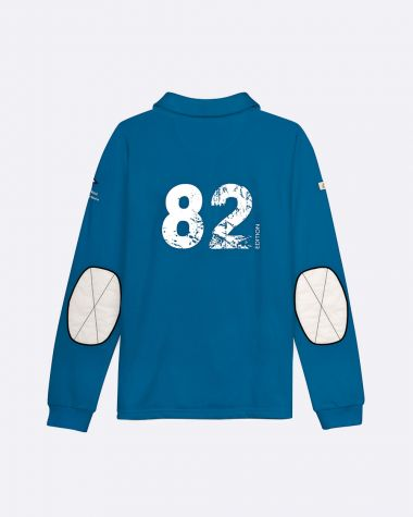 Women's long sleeved polo Bol d'Or Mirabaud 2021 Blue