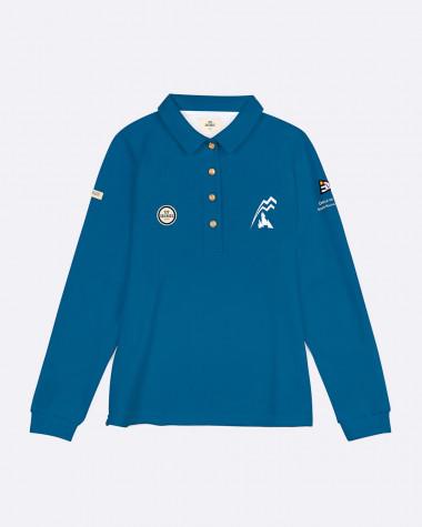Polo manches longues Femme Bol d'Or Mirabaud 2021 Bleu