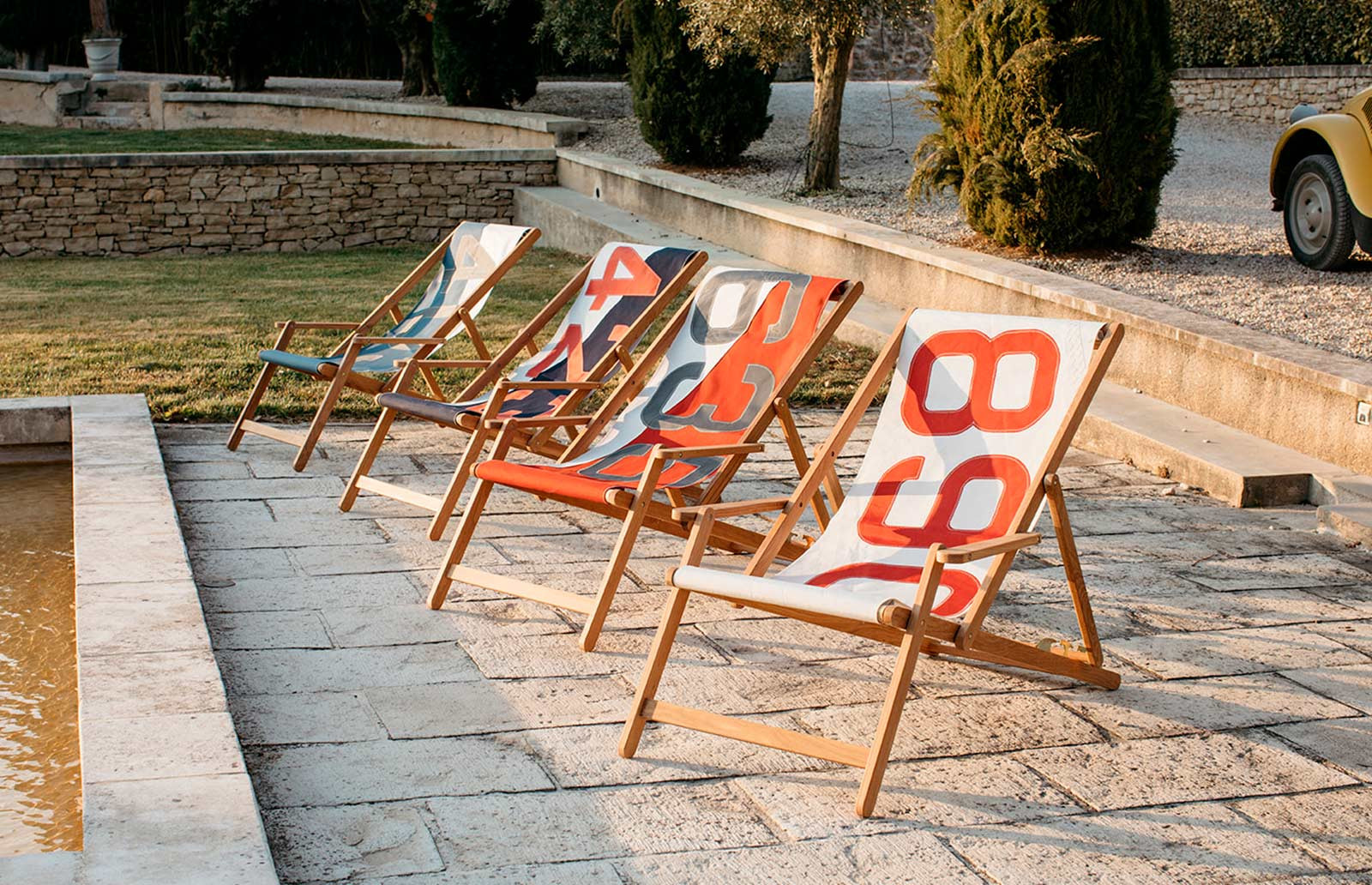 Deckchairs in recycled sailcloth