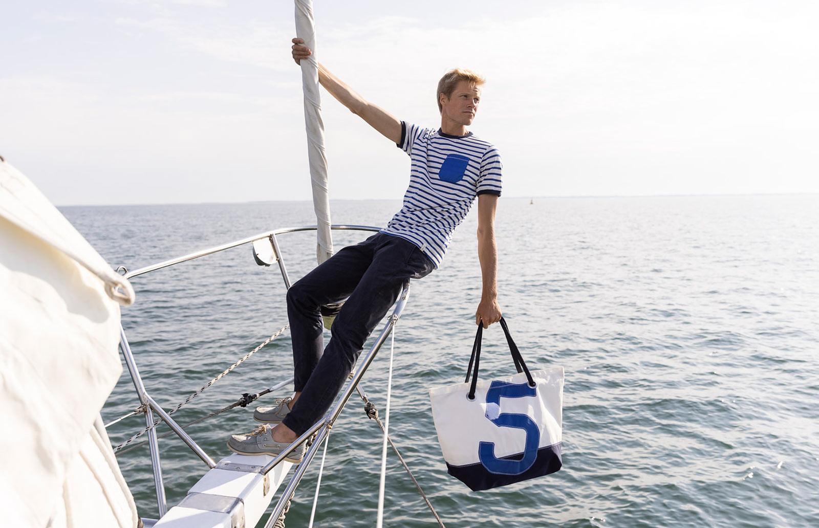 Sac Carla : sac de voyage pour femme en toile de bateau | 727 Sailbags