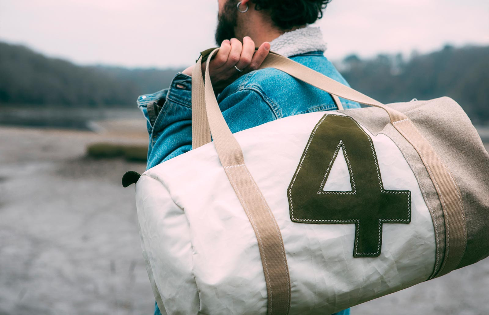 727Sailbags weekend bag: the Onshore bag, creation in sailcloth