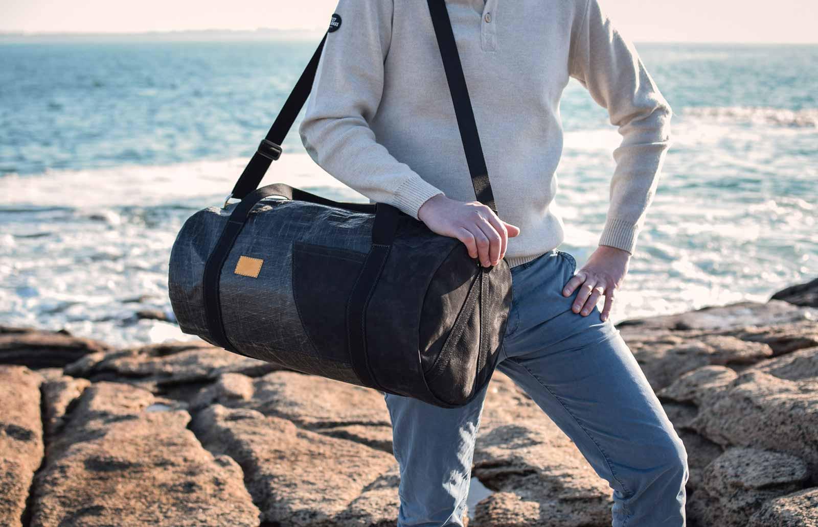 727Sailbags Reisetasche für das Wochenende: die Onshore, eine Kreation aus Schiffssegel
