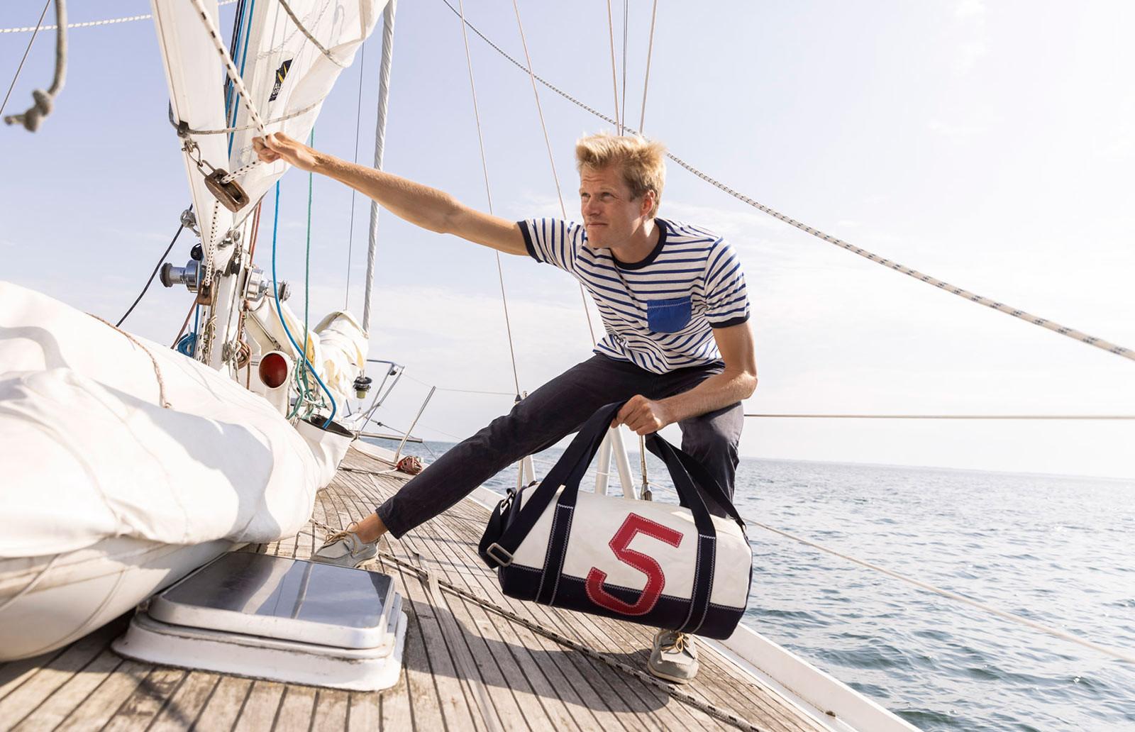 Sac polochon : Sac de sport en voile de bateau recyclée | 727 Sailbags