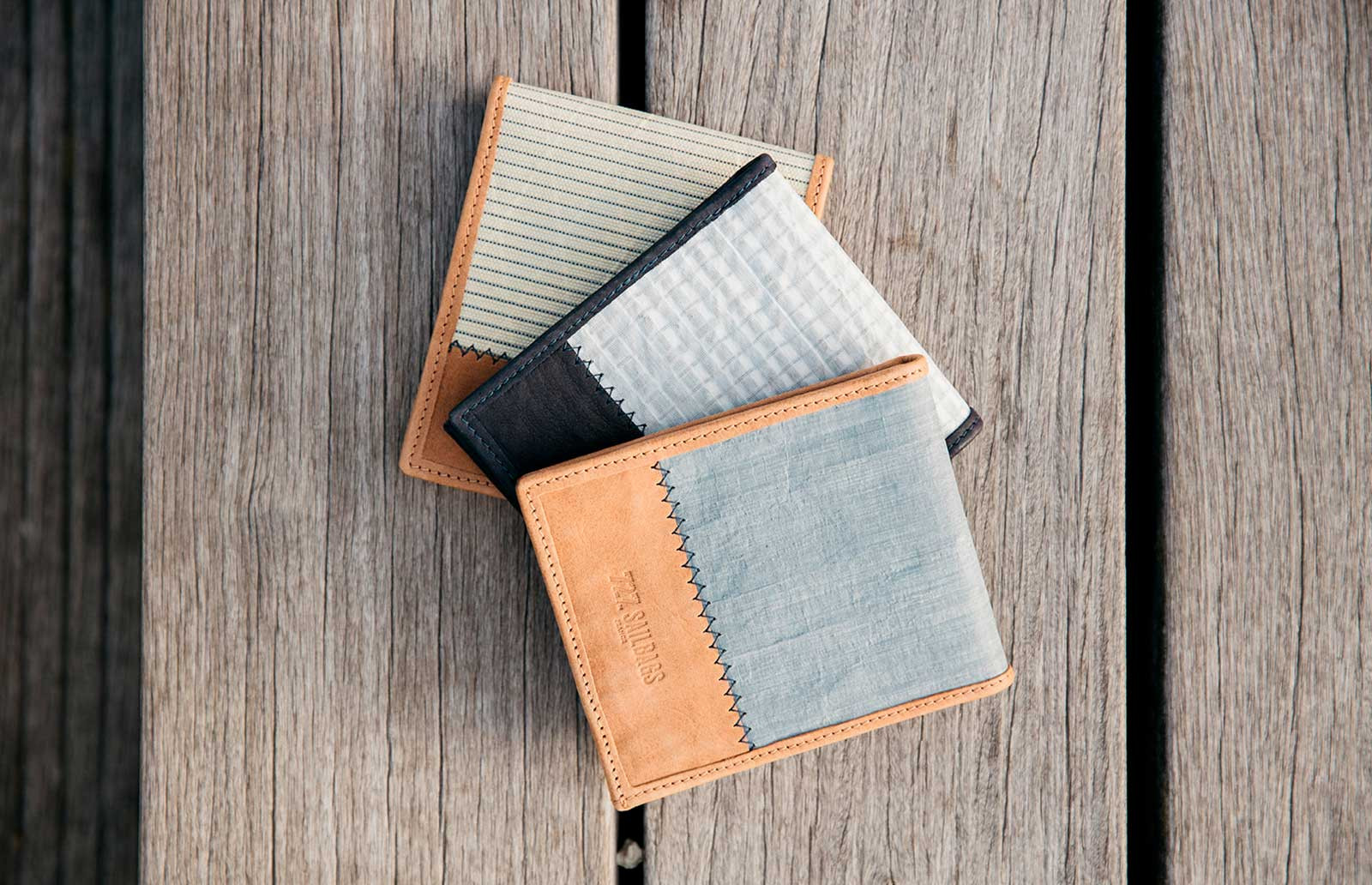 Men's wallet in 100% recycled sailcloth