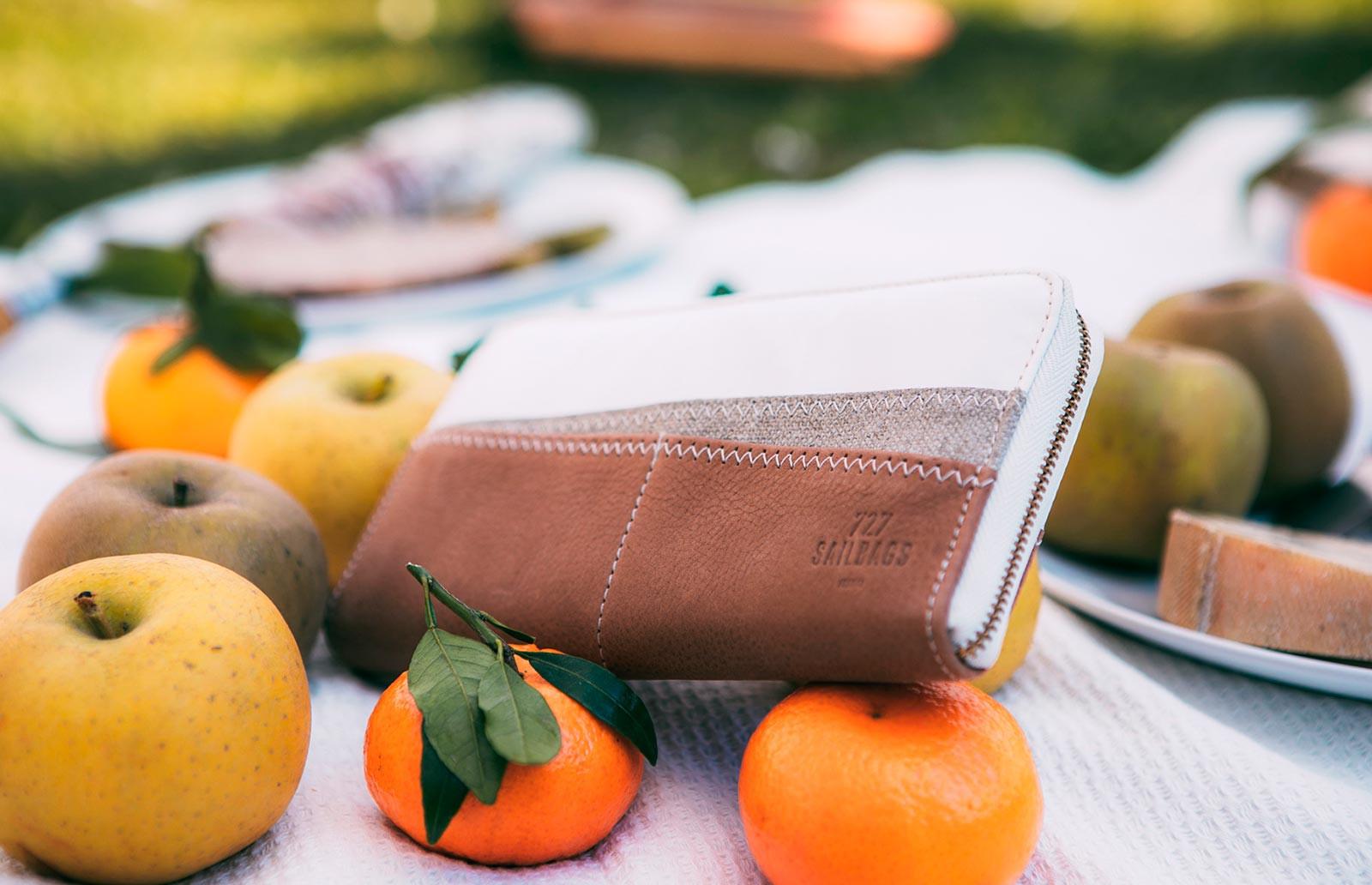 Damen-Brieftasche aus 100 % recyceltem Segel