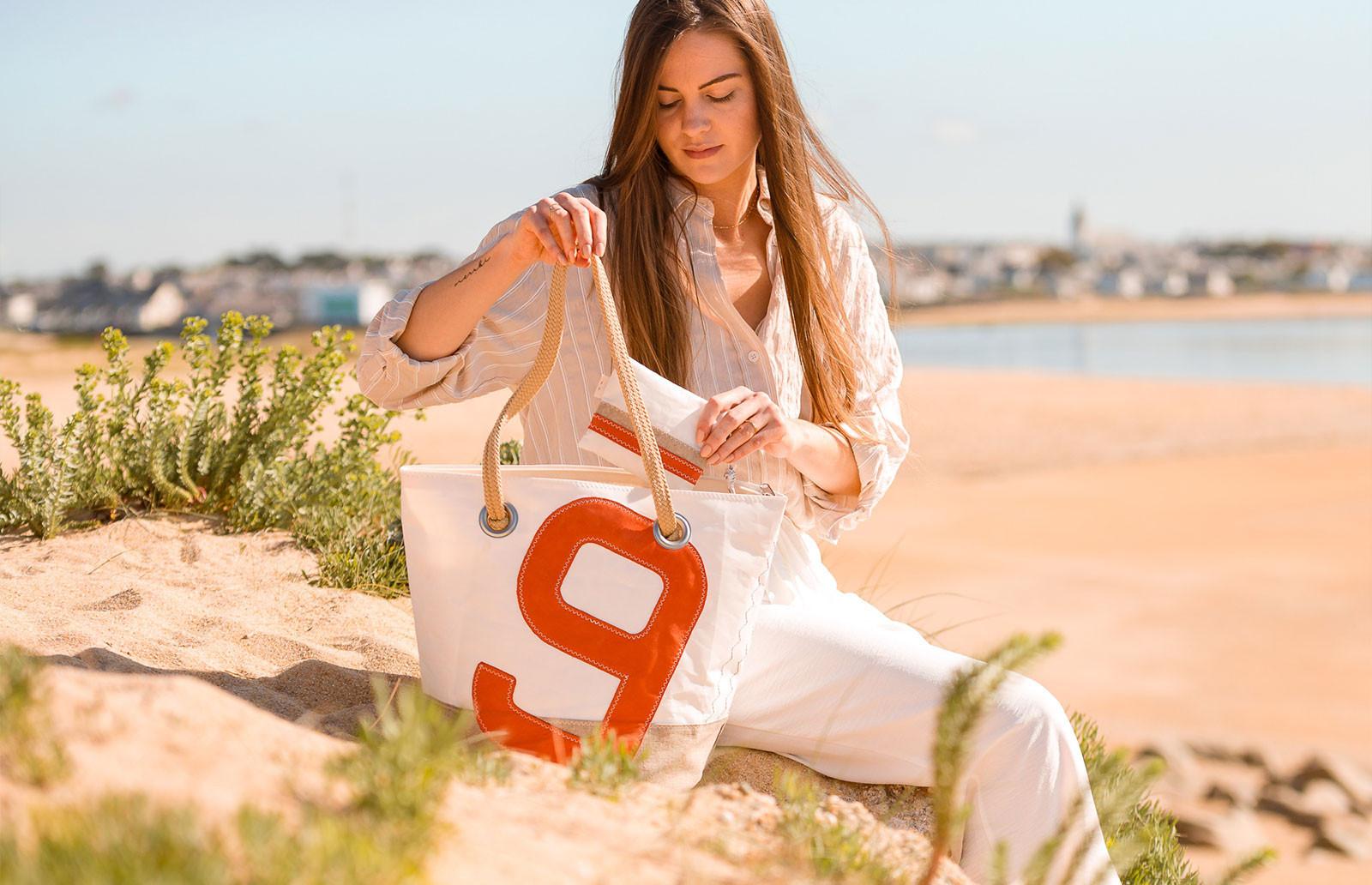 Handtasche aus 100 % recyceltem Segel