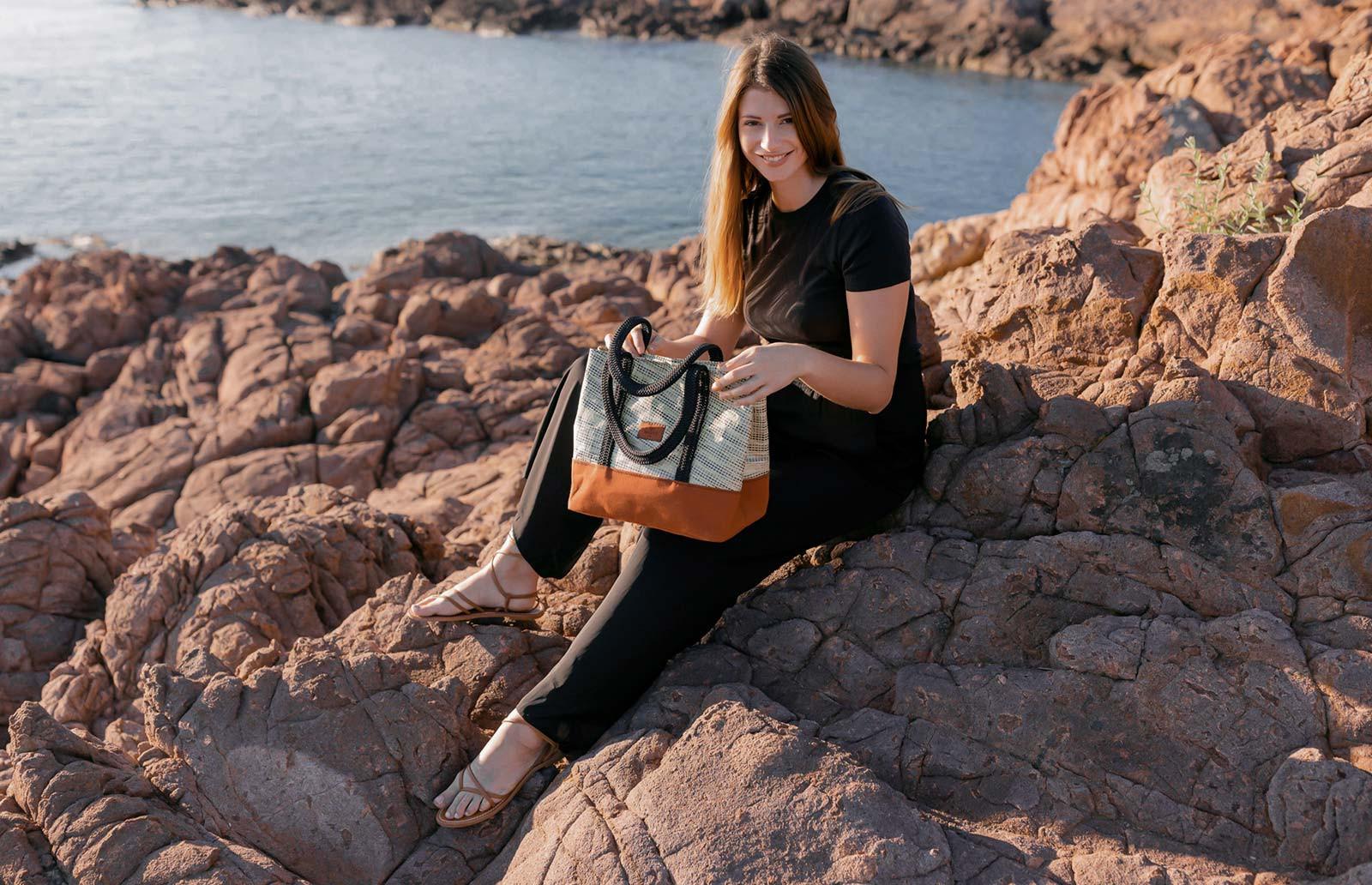 The Sweetie   Recycled sail handbag